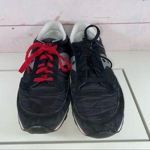 Saucony Jazz Men 2866-7 Size 9.5 Black Suede Red